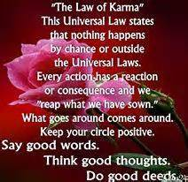 Rays Of Wisdom - Healers And Healing - The Law Of Karma