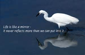 Rays Of Wisdom - Words Of Comfort And Hope - Life Is Like A Mirror